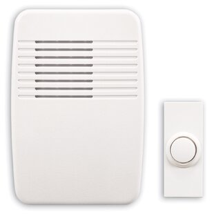 Wireless Plug In Doorbell Kit With White Molded Cover