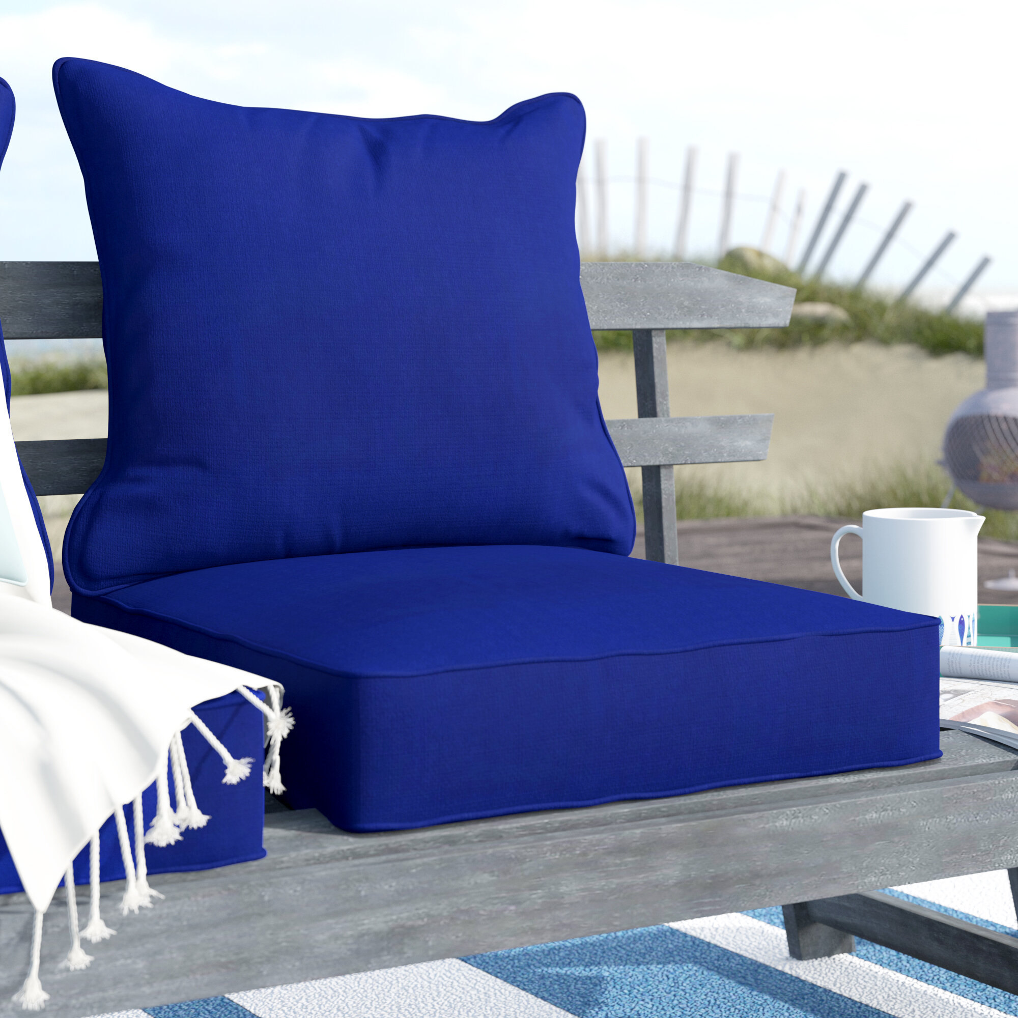 Breakwater Bay 2 Piece Indoor/Outdoor Chair Cushion Set & Reviews ...