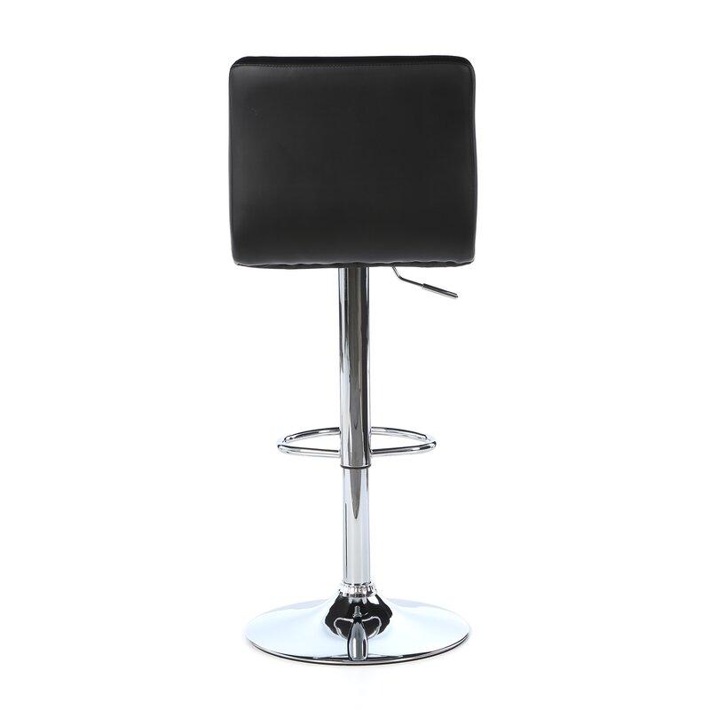 Superieur Full Back Adjustable Height Swivel Bar Stool