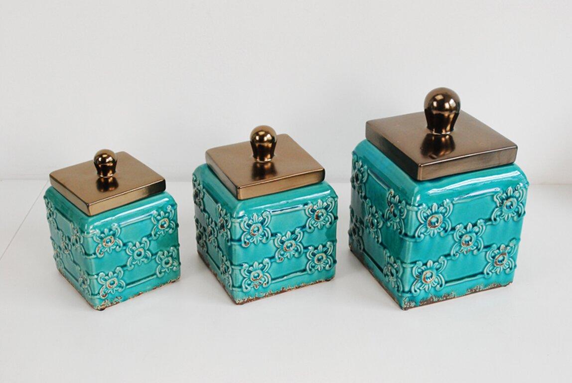 drewderosedesigns 3 piece kitchen canister set reviews wayfair default name