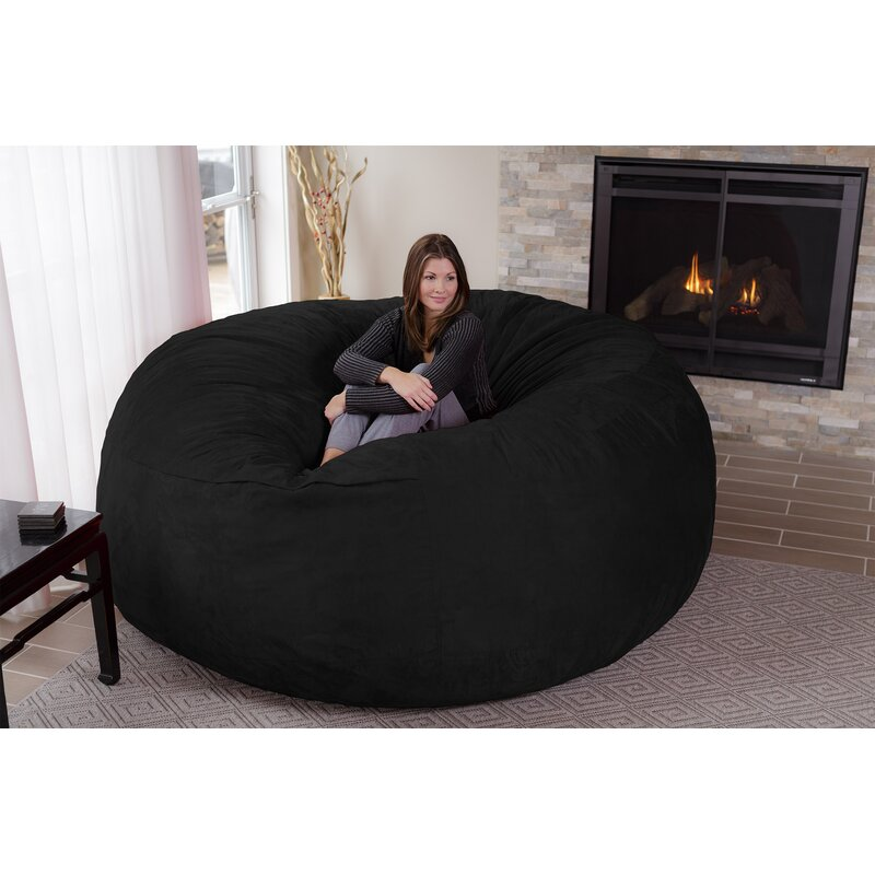 Latitude Run Microsuede Bean Bag Sofa   Reviews  17afd1f4c360b