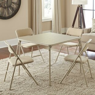 5 Piece Square Folding Set & Seats Included Folding Tables Youu0027ll Love | Wayfair