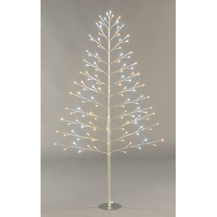 6ft artificial christmas tree with white and warm white led lights - White Twig Christmas Tree