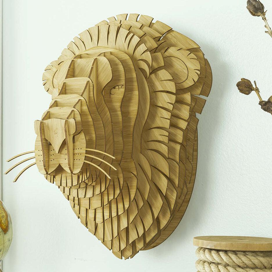 Antler Home Leon the Bamboo Lion Head Wall Décor | Wayfair