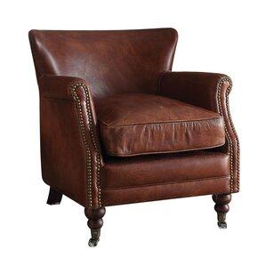 Devyn Top Grain Leather Club Chair by Loon P..
