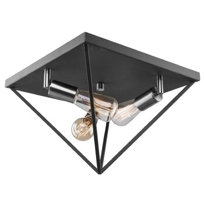 Ivy Bronx Spell 3-Light Flush Mount Fixture Finish: Polished Nickel