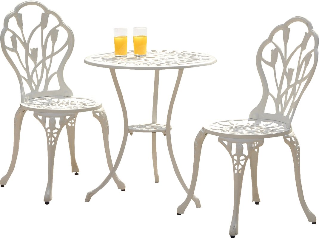 SunTime Outdoor Living Tulip 3 Piece Bistro Set With