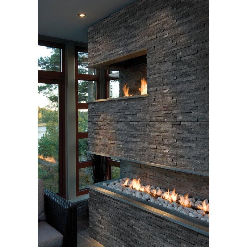 msi coal canyon 6 x 24 natural stone splitface tile reviews rh wayfair com split face mosaic tile fireplace split face tiles inside fireplace