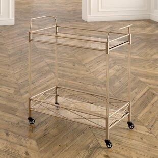 Anesicia 2-Tiered Storage Bar Cart