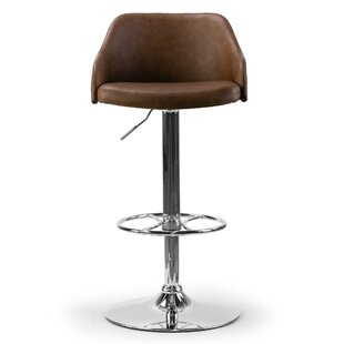Buker Adjustable Height Swivel Bar Stool