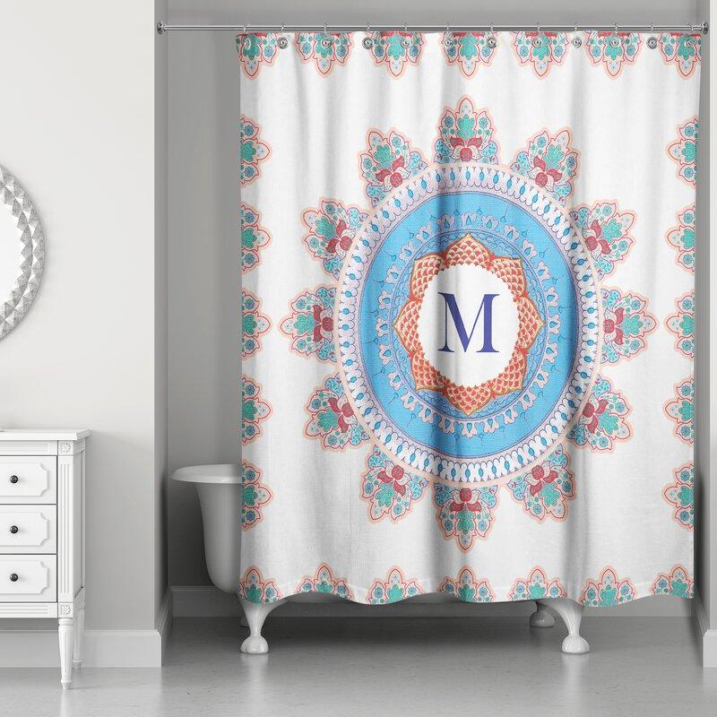 Ireland Monogram Medallion Shower Curtain