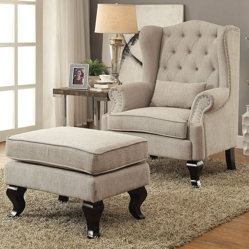 Willow Wingback Chair And Ottoman