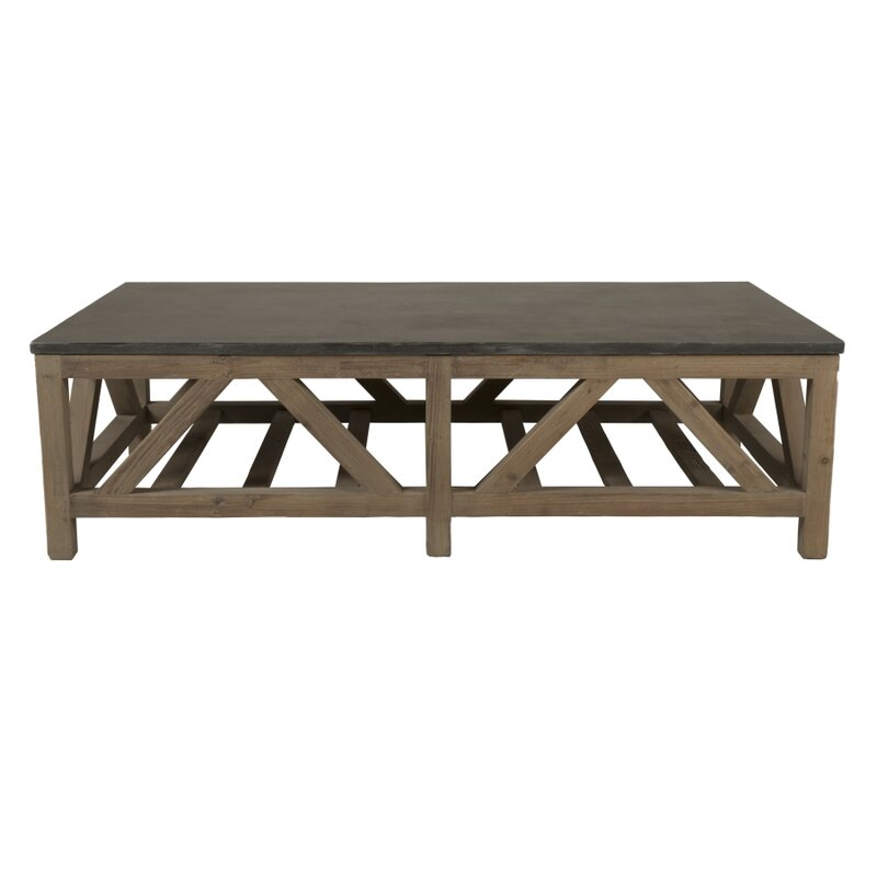orient express furniture blue stone coffee table & reviews | wayfair