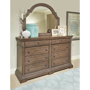 Deverel 8 Drawer Double Dresser with Mirror by World Menagerie