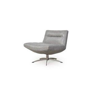 Taran Leather Swivel Slipper Chair by Orren ..