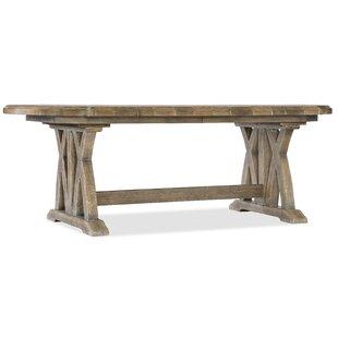 Boheme Colibri Trestle Solid Wood Dining Table