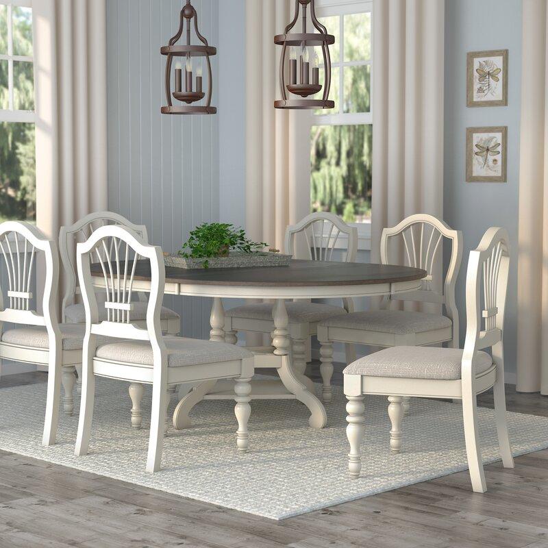 alise 7 piece dining set reviews birch lane. Black Bedroom Furniture Sets. Home Design Ideas