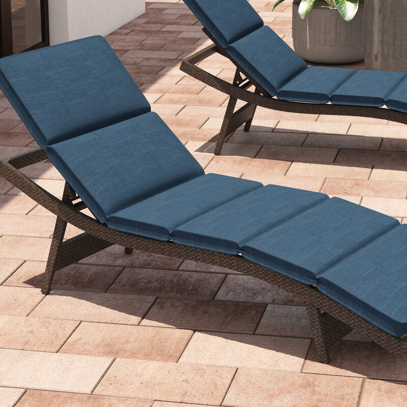 fortenberry indoor outdoor chaise lounge cushion reviews birch lane