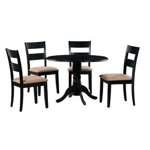 Cedarville 5 Piece Drop Leaf Solid Wood Dining Set
