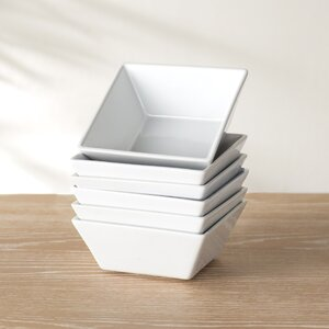 Wayfair Basics Square Bowl (Set of 6)