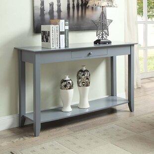 gray console tables you ll love wayfair rh wayfair com grey sofa table ikea grey sofa white table