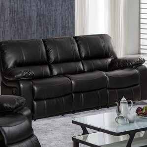 Layla Breathing Leather Reclining Sofa by Living In Style