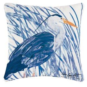 Heron Indoor/Outdoor Throw Pillow