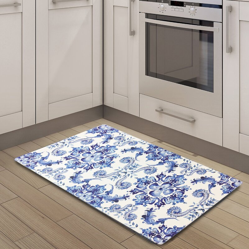 Ordinaire Cook N Comfort Poppy Sketch Tile Kitchen Mat