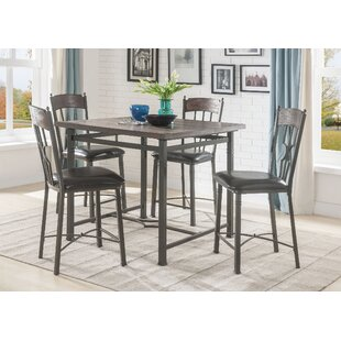 Gambino Counter Height 5 Piece Pub Table Set