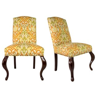 Queen Ann Spring Upholstered Side Chair (Set of 2)  sc 1 st  Wayfair & Queen Anne Style Arm Chairs | Wayfair