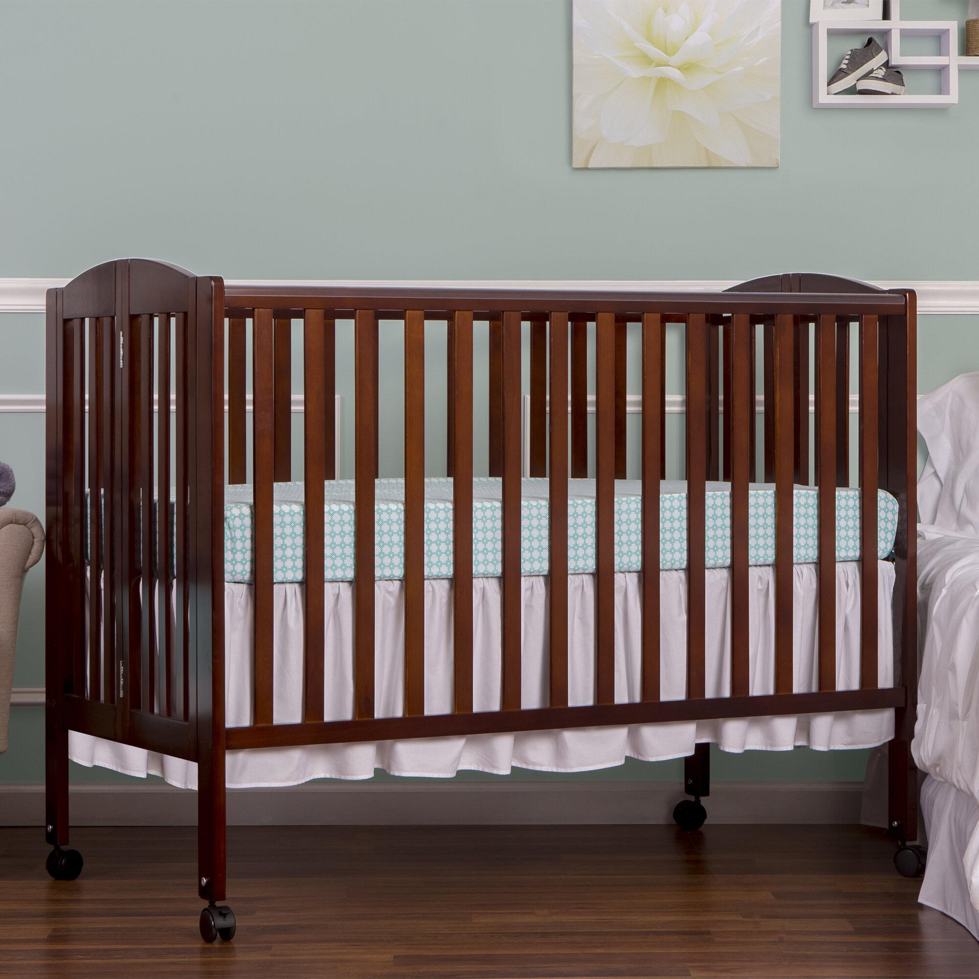 Dream On Me Folding Portable Crib U0026 Reviews | Wayfair