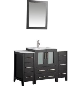 Karson Framed 48 Single Bathroom Vanity Set with Mirror