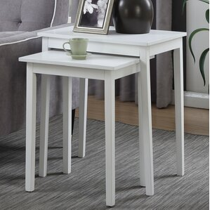 Williams 2 Piece Nesting Tables. Mahogany White Espresso