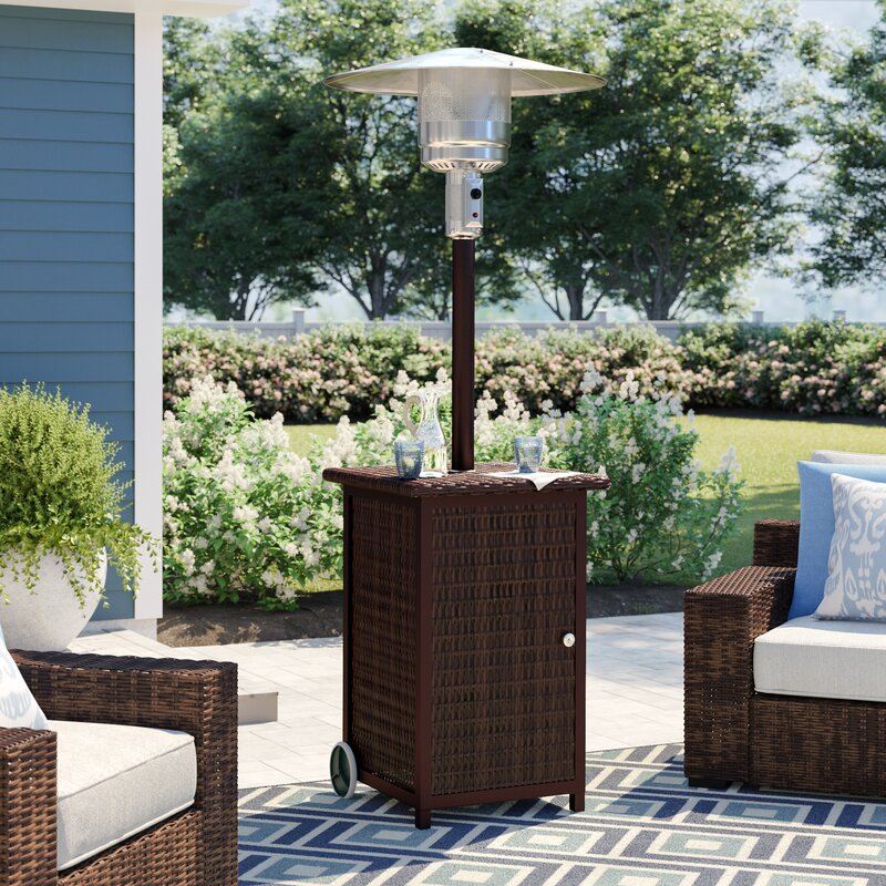 Sol 72 Outdoor Barnhill Tall Square 48,000 BTU Propane Patio Heater with Wheels