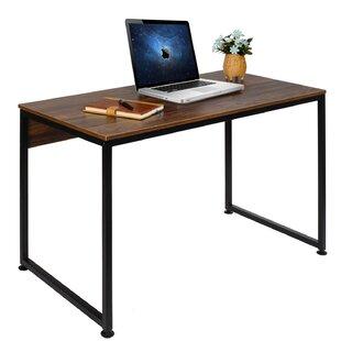 Innovative hidden home office computer desk Cool Quinton Modern Studio Computer Desk Wayfair Small Desks Youll Love Wayfair