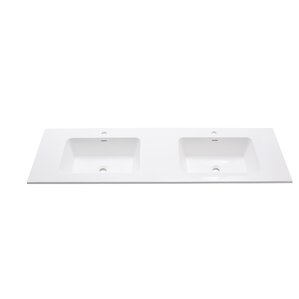 double sink vanity with top. VersaStone 63  Double Bathroom Vanity Top Tops You ll Love Wayfair