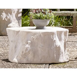 Charmant Log Roman Stone Coffee Table