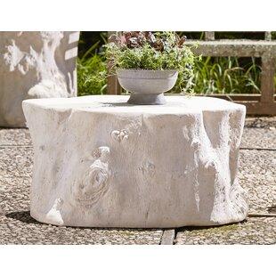 Charmant Log Roman Stone Coffee Table