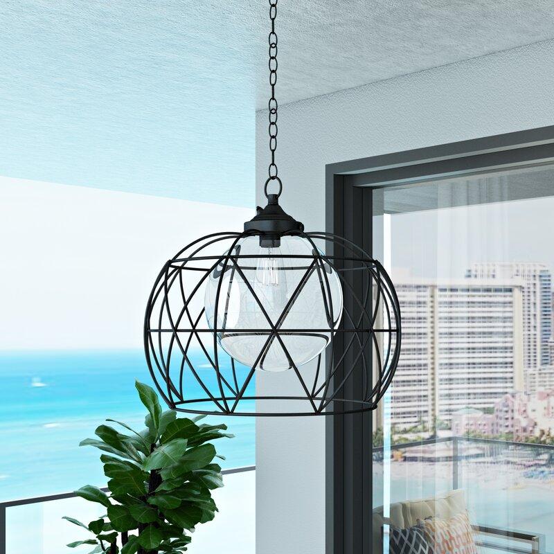 Wayfair Outdoor Hanging Lights: Orren Ellis Doane 1-Light Outdoor Pendant & Reviews