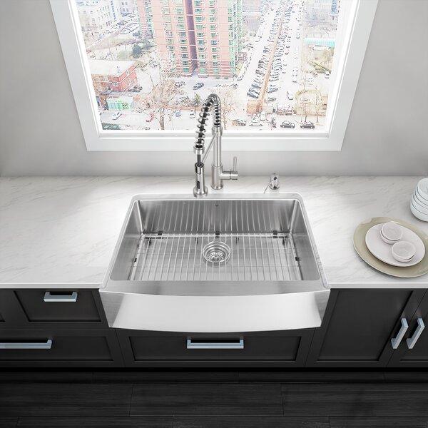 VIGO Alma 33 Inch Farmhouse Apron 16 Gauge Stainless Steel Kitchen Sink |  Wayfair