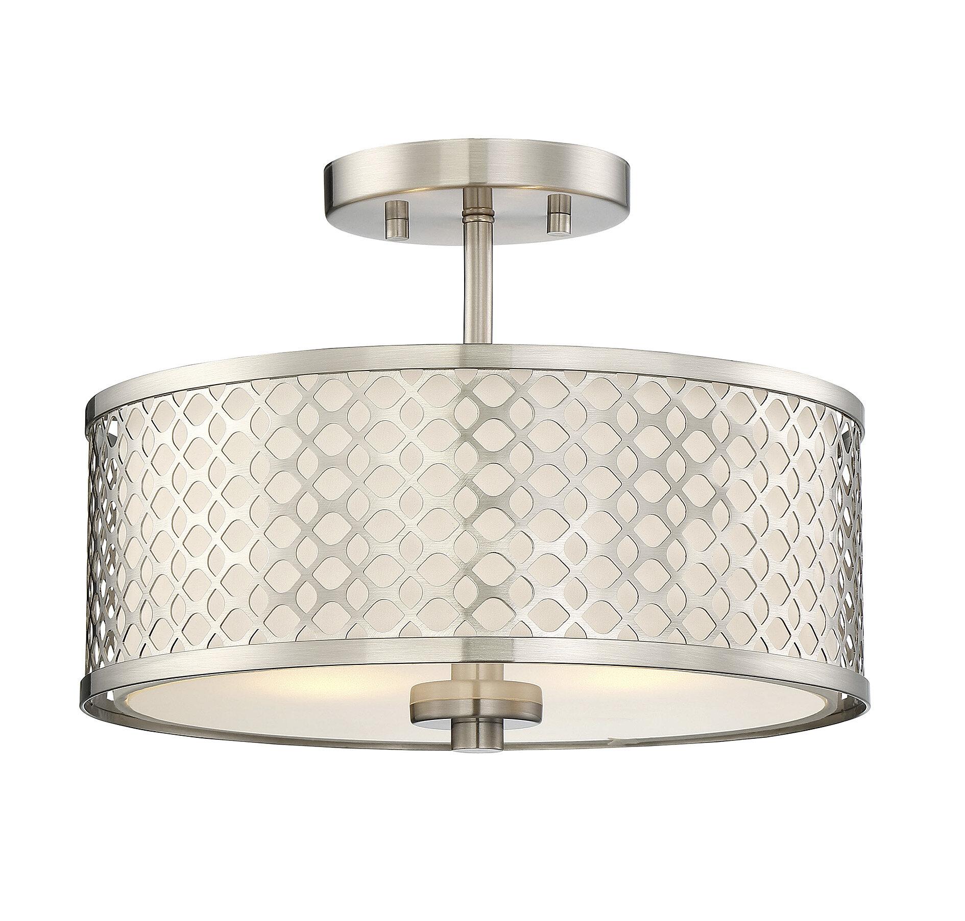 Coolidge 2 light semi flush mount