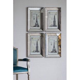 Mirrored Art Wall Décor Set (Set Of 4)