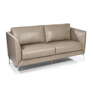 Fay Leather Loveseat by Orren Ellis