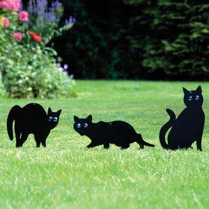 3 Piece Cat Scarer Statue Set (Set of 3)