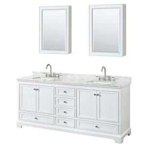Deborah 80 Double Bathroom Vanity Set with Medicine Cabinet