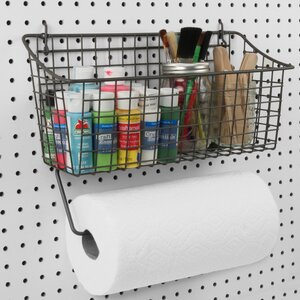 Pegboard Basket Wall Mounted Paper Towel Holder