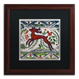 'Vintage Christmas Deer' by Patty Tuggle Framed Painting Print