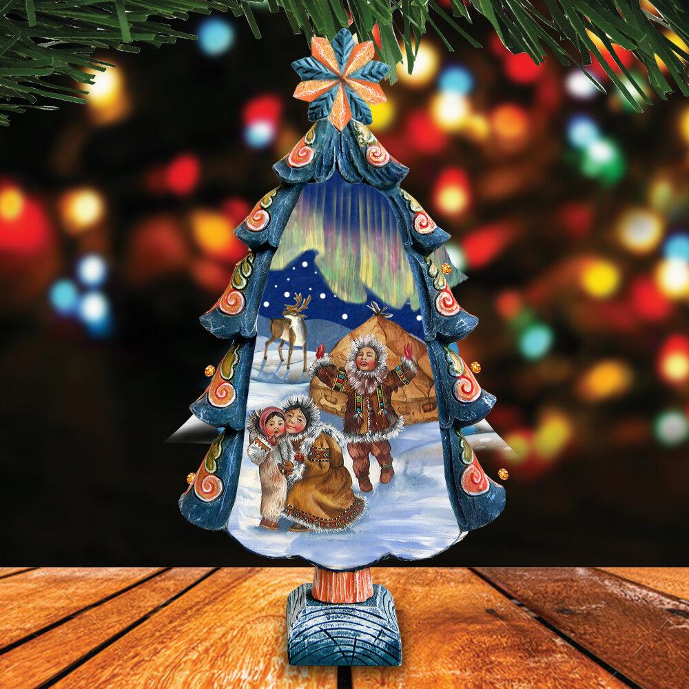 The Holiday Aisle Fifield Northern Lights Tree Figurine Wayfair