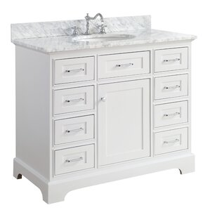 single white vanity with sink. Aria 42  Single Bathroom Vanity Set Vanities You ll Love Wayfair