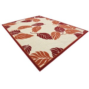 Westerly Beige/Red Indoor/Outdoor Area Rug